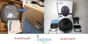 Phân biệt robot hút bụi nội địa và bản CE chuẩn Âu